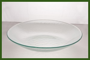 "13 3/4"" Round Coupe Bowl Clear Textured 3/16"""