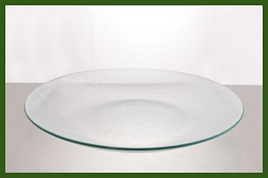 "18 1/4"" Round Coupe Bowl Clear Textured 3/16"""