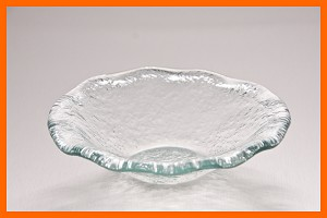 "5"" Fluted (Candy) Bowl Clear Textured 3/16"""