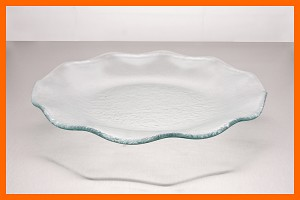 "12"" Fluted Plate Clear Textured 3/16"""