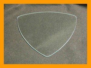 "9"" Triangle Flat Clear Glass, 3/16"""