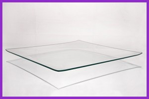 "10"" Square Shallow Bend Glass Plate 3/16"