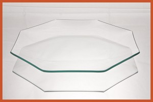 "2nds - 8"" Octagon Bent Clear Plate 1/8"