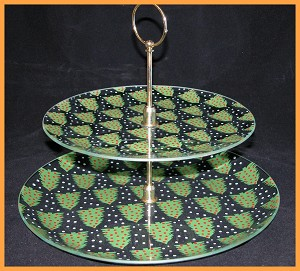 "2 Piece Tray Set - 10"" & 13"" All Over Trees 1/8"""