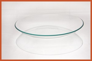"2nds - 8"" Bowl Bent Clear Glass 1/8"