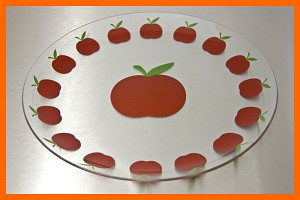 "13"" Ring Of Apples Plate 1/8"""