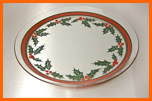 "13"" Holly And Berry Plate"