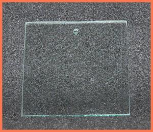 "3"" Square Suncatcher or Ornament Clear Glass Flat 1/8"