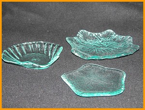 3 Piece Set Candy/Soap Dishes Star, Sea Shell, Leaf Textured Set