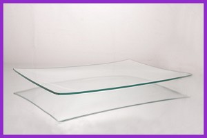 "2nds - 9"" x 12"" Rectangle Shallow Clear Bent Glass 1/8"