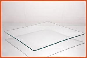 "2nds - 10"" Square Shallow Bent Glass Plate 1/8"