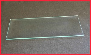 "2nds - 8"" x 11"" Rectangle Big Bottom Bent Glass Clear Plate 1/8"