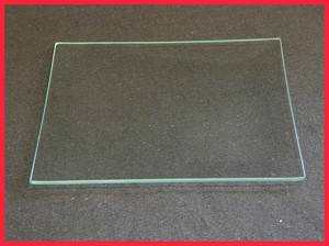 "2nds - 8"" Square Big Bottom Glass Bent Plate Clear 1/8"