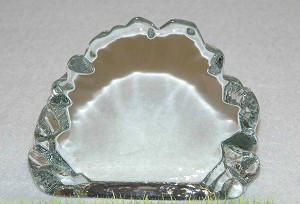 "4"" Iceberg Clear Crystal Paperweight"