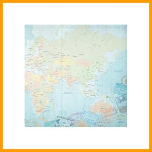 "World Travel Eastern Hemisphere Map Paper 12"" x 12""  1 Sheet"
