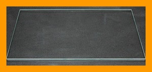 "12"" x 16"" Rectangle Clear Flat Glass, 3/16"""