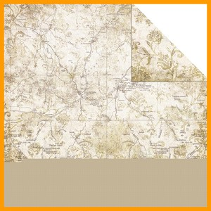 "Timeless Travel Double-Sided Paper 12""X12  Map 1"