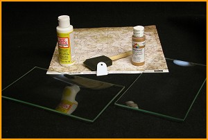 "Kit #11- 6"" x 10"" Glass Plate Beginners Decoupage Set"