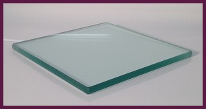 "8"" Square 3/8"" Thick Flat Clear Glass"