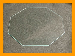 "6"" Octagon Clear Flat, 1/8"""