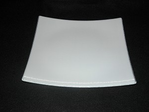 "10"" Square Flip Up Style White Textured Bent 3/16"""