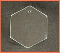 "2nds - 3"" Hexagon Suncatcher/Ornament 3/32 Thick"