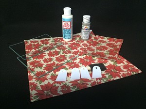 "Kit #12- 4"" x 6""  Glass Plate Beginners Decoupage Set"