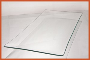 "8"" x 20"" Rectangle Clear BENT Glass Plate 1/8"""