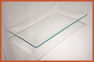 "2nds - 6"" x 10"" Rectangle Clear Glass Plate 3/16"