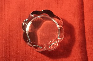 "3 1/2"" Scalloped Crystal Paperweight"
