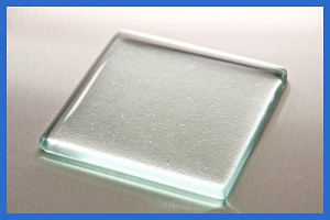 "2nds - 4"" Square Glass Paperweight 3/8"" Discontinued"