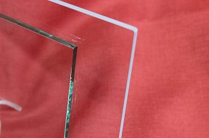 "4"" Square Low Iron Clear Flat Glass, 4 MM (DG)"