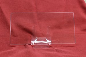 "6"" x 12"" Rectangle Low Iron Clear Flat Glass, 4 MM (DG)"