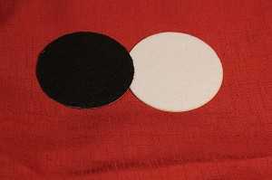 "Felt, Adhesive, 4"" Round (for 5 1/2"" Round Wine Coasters)"