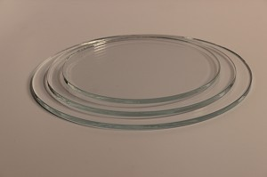 "5"" Round Low Iron Clear Flat Glass, 4MM"