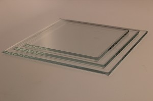 "4"" Square Low Iron Clear Flat Glass, 4 MM"