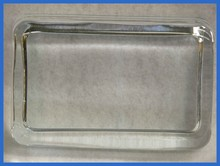 2nds - 2 3/4 x 4 1/2 Rectangle Recess Crystal Paperweight