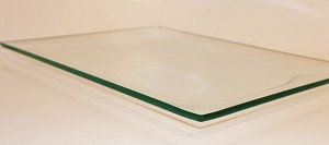 "9"" X 12"" Rectangle Shallow Clear Glass Plate, 3/16"""
