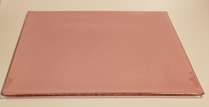 "12"" Square Glass Plate, Pink"