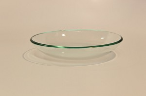 "4 1/2"" Round Clear Bowl, 1/8"""
