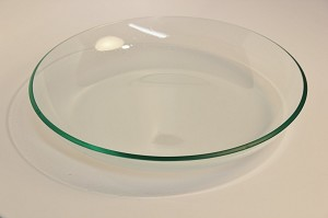 "2nds - 11"" Deep Clear Glass Bowl 3/16"""