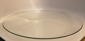 "2nds - 18 1/8"" Large Round Clear Glass Bowl, 1/8"" thick"