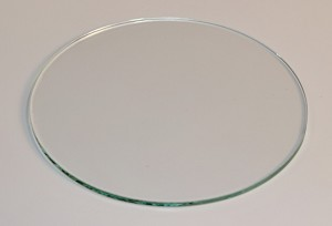 "4"" Round Flat Glass, 3/32"" Thickness (SS)"