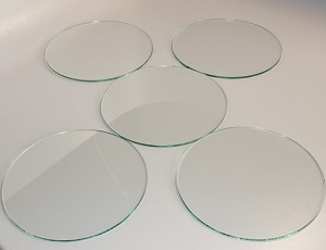 "5"" Round Flat Glass, 3/32"" Thickness (SS)"