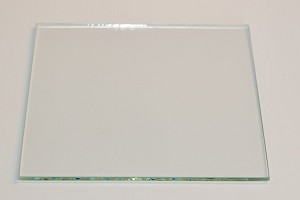 "4"" Square Flat Glass, 3/32"" Thickness (SS)"