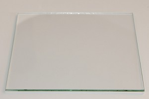 "5"" Square Flat Glass, 3/32"" Thickness (SS)"