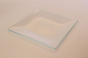 "6"" Square Shallow Low Iron, 4 mm, Clear Glass Plate"