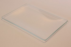 "4 1/2"" x 6 1/2"" Rectangle Shallow Low Iron, 4 mm, Clear Glass Plate"