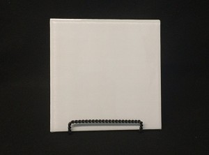 "4"" Square White Glass, Flat"