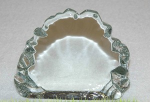 "2nds - 4"" Ice Berg Clear Crystal Paperweight"